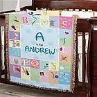 Personalized Alphabet Block Blanket