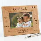 Personalized Dad Wood Photo Frame