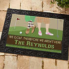 Gone Golfing Personalized Doormat
