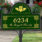 Claddagh Address Yard Stake with Magnet