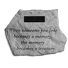 When Someone You Love Personalized Remembrance Stone
