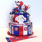 Phillies Baseball Candy Bar Cake