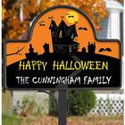 Personalized Halloween Haunted House Yard Stake