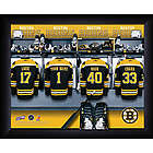 Personalized NHL Boston Bruins Locker Room Print