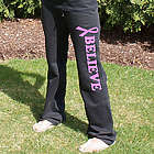 Pink Ribbon Cancer Awareness Sweatpants