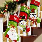 Personalized Tangled In Lights LED Christmas Stocking