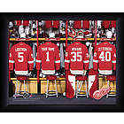 Personalized NHL Detroit Red Wings Locker Room Print