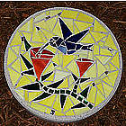Hummingbird Stained Glass Stepping Stone