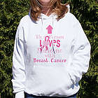Loves Someone with Breast Cancer Hooded Sweatshirt