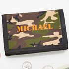 Personalized Camouflage Velcro Wallet