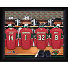 Personalized NHL Minnesota Wild Locker Room Print