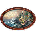 Light Of Peace Framed Collector Plate with Family Name