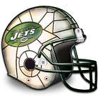 New York Jets Louis Comfort Tiffany-Style Accent Lamp