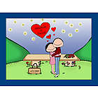 Personalized Starlight Love Couple Cartoon