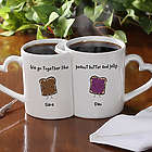 'We Go Together Like' Personalized Coffee Mug Set