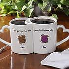 'We Go Together Like' Personalized Coffee Mug Set