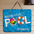 Personalized Swimming Pool Welcome Slate Plaque