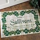 Personalized Irish Family Name Custom Doormat