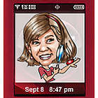 Mobile Phone Caricature Icon