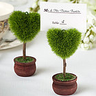 Heart Design Topiary Place Card Holders
