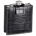 Personalized Leather Croco Flask