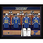 Personalized NHL St. Louis Blues Locker Room Print