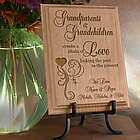 Personalized Grandparent's Chain of Love Wooden Plaque