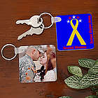 Personalized Military Photo Key Ring