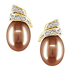 Chocolate Brown Pearl Earrings