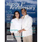 1st Anniversary Personalized Magazine Cover