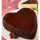 Junior's Heart-Shaped Cheesecake