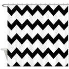 Black and White Chevron Print Shower Curtain
