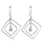 Aquamarine Briolette Earrings in Sterling Silver