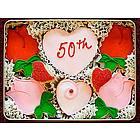 50th Anniversary Sugar Cookie Gift Tin