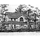Customized Home Portrait in Pen and Ink