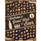 Great Wall of Beer Personalized Bar Sign