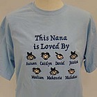 """Baby Face """"Loved By"""" Personalized Family T-Shirt"""