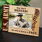 U.S. Army Wood Picture Frame
