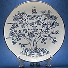 Personalized Family Tree Anniversary Plate
