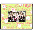 Personalized Pink and Green Flower Girl Frame