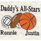 """Sports Balls"" Personalized Family Shirt"