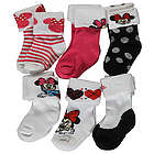 Minnie Mouse Argyle Heart Foldover Socks