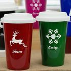 Personalized Holiday Latte Travel Mug