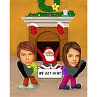 Santa's Time Caricature from Photos