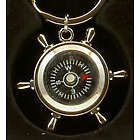 Personalized Ship's Wheel Compass Keychain