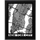 Precision Cut Framed Street Map Poster