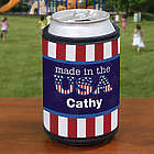 Personalized Made in the USA Can Wrap Koozie