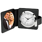 Leather Photo Alarm Travel Clock