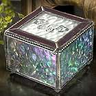 Stained Glass Box with Etched Butterfly Top