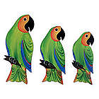Amazon Parrots Wood Wall Adornments